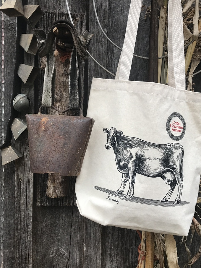 """Cato Corner Jersey Tote for """"Total Turophile"""" $50 Backers"""
