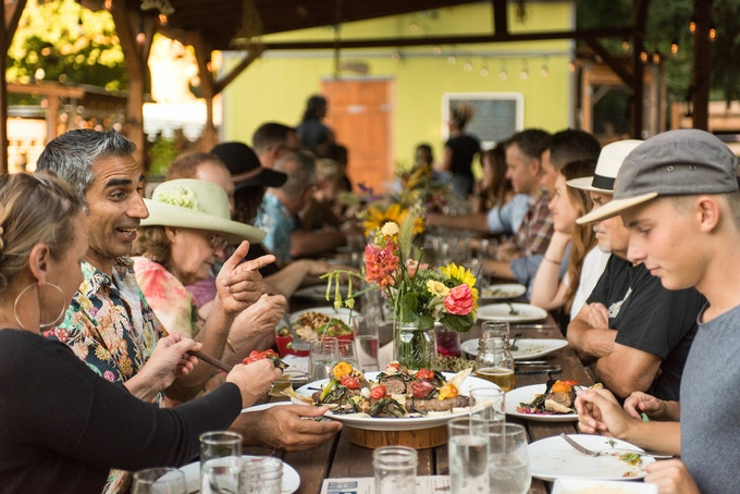 Supper Series at Side Yard Farm. This is from our 'Refugees Welcome' dinner series