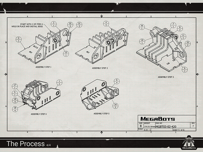 Our Process poster series consists of actual engineering drawings from Eagle Prime's build