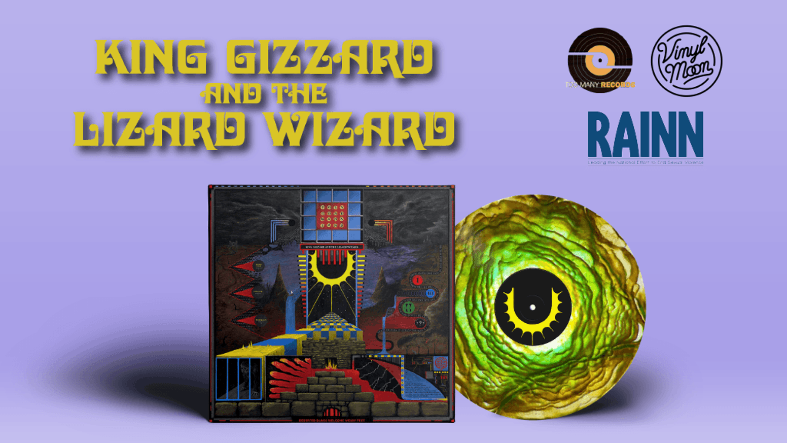 """Deluxe vinyl pressing of King Gizzard & The Lizard Wizard's new LP """"Polygondwanaland"""". Quality from Vinyl Moon. All profits to charity."""