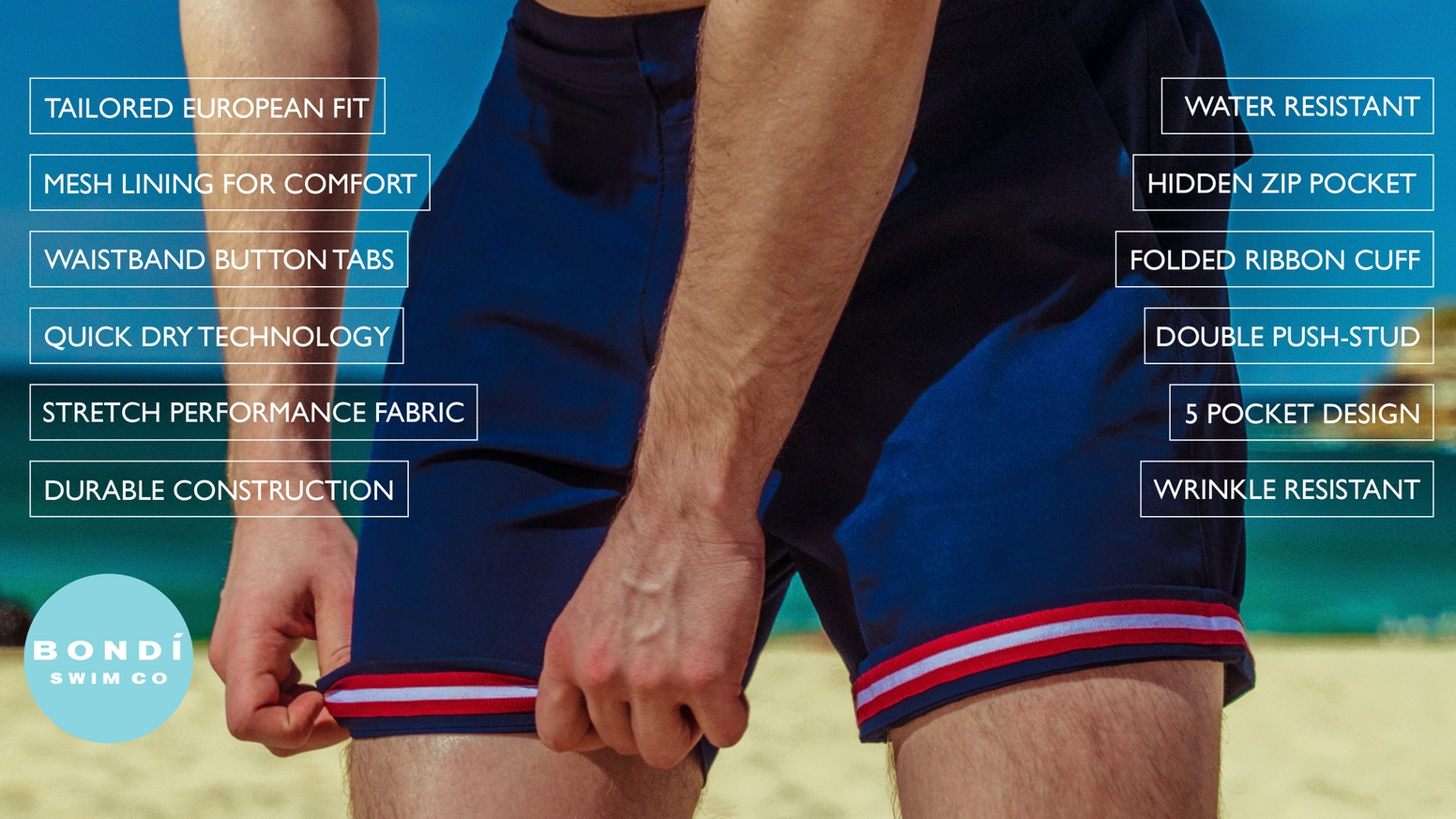 The First Ever Swim Shorts That Transition Into Stylish Tailored Shorts, Engineered For All Day Comfort and Style.