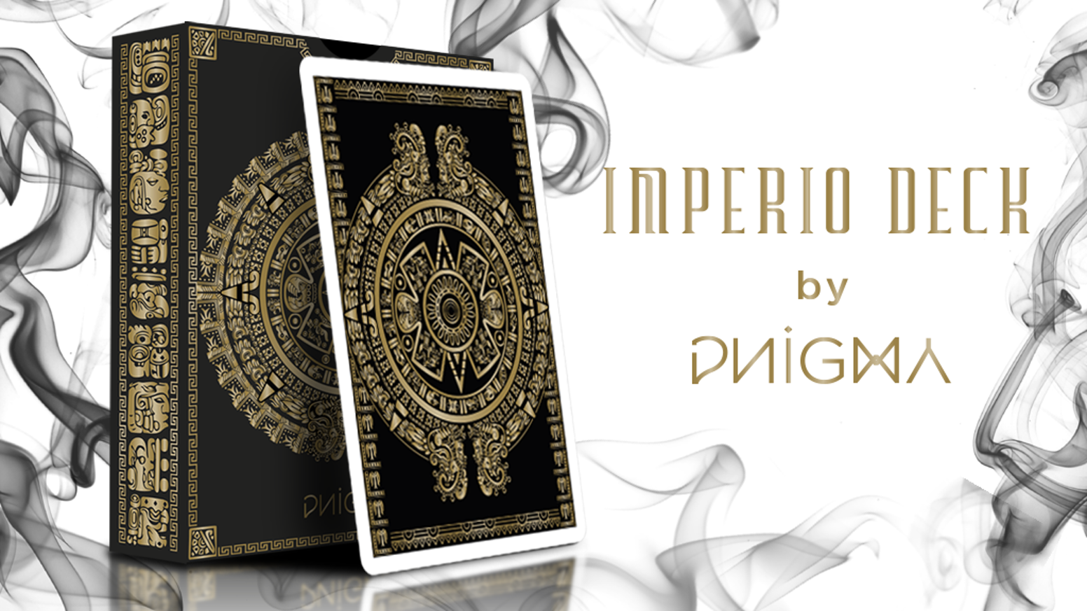 An exquisitely detailed design on playing cards with a Pre-Hispanic cultural theme. Enjoy the unique Gold-Black design Printed by USPCC