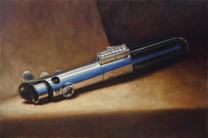 """Your Father's Lightsaber"" 8x12 inches, oil on panel"