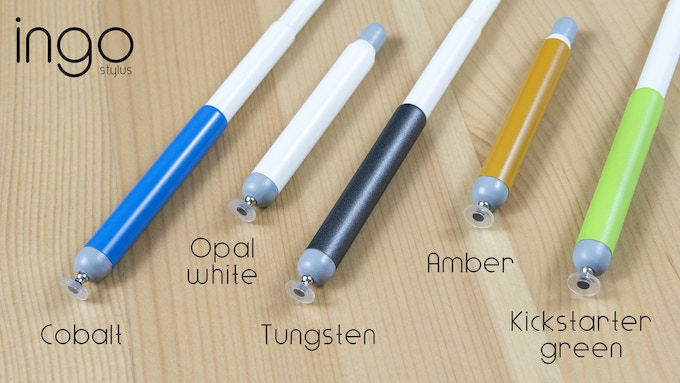 All color options for the ingo stylus