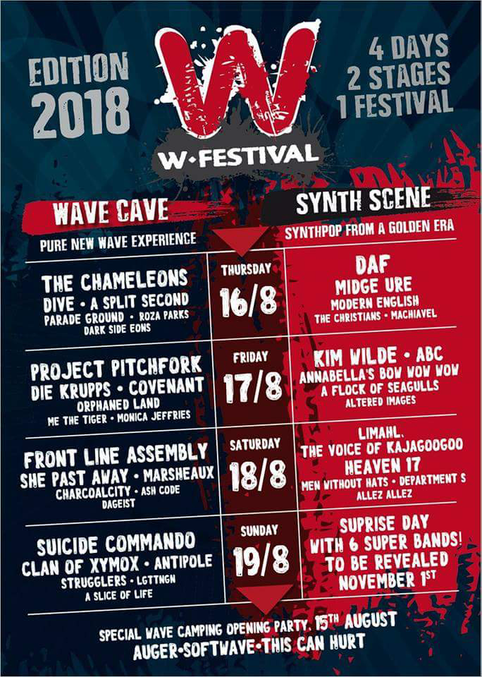 Softwave opens W-Festival 2018 in Belgium