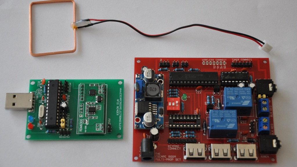 The arduino compatible rfid reader module with eeprom by