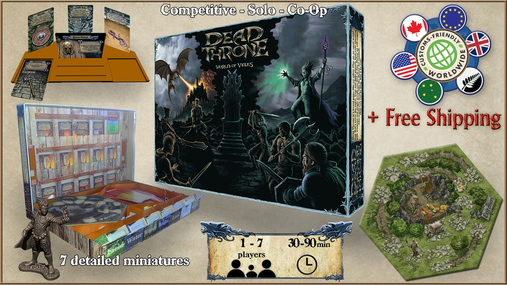 Dead Throne - Open World Board Game with Mechanical Market project video thumbnail
