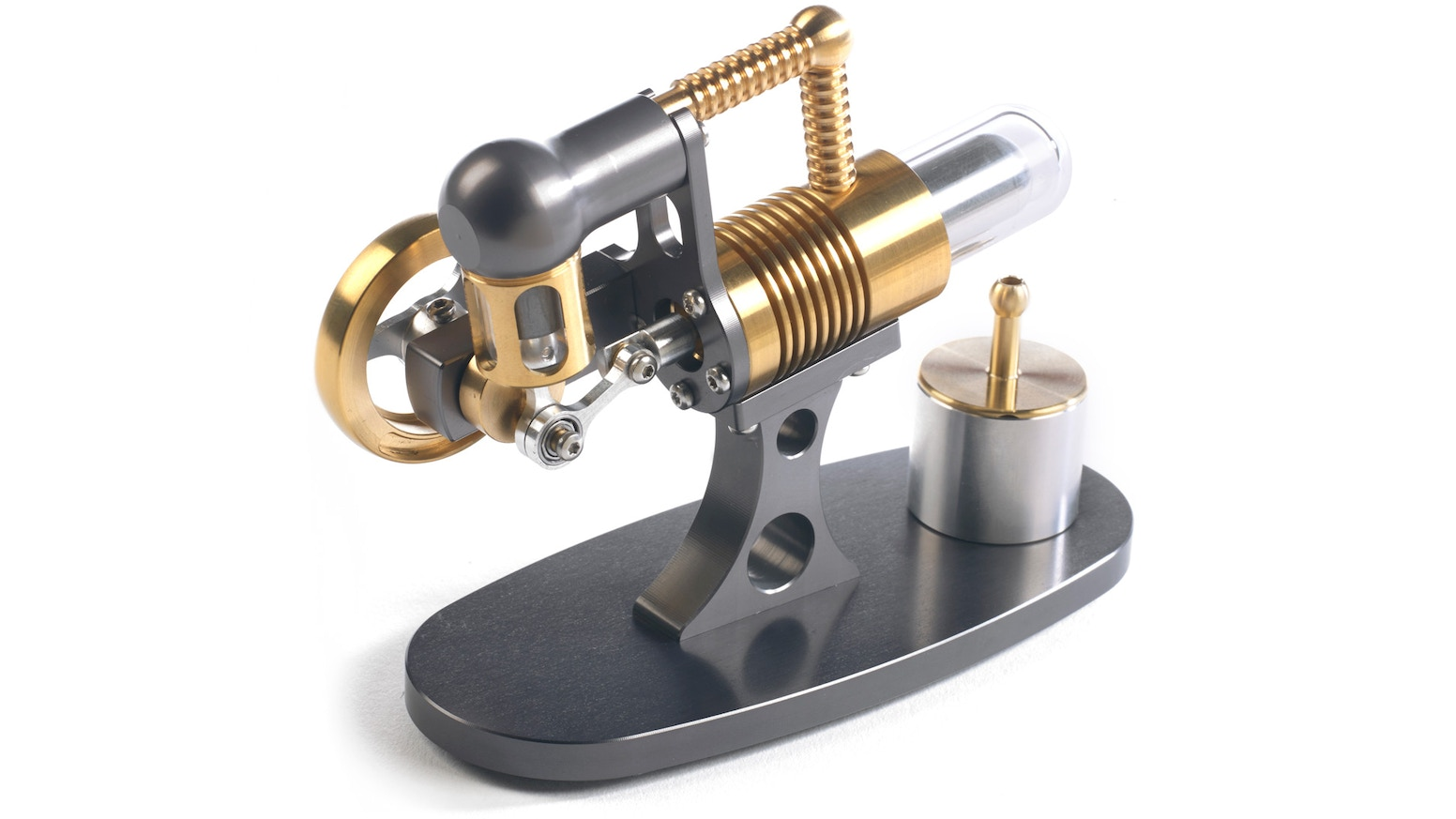 Our world famous Stirling engines have a new addition….The Nano Fin Engine