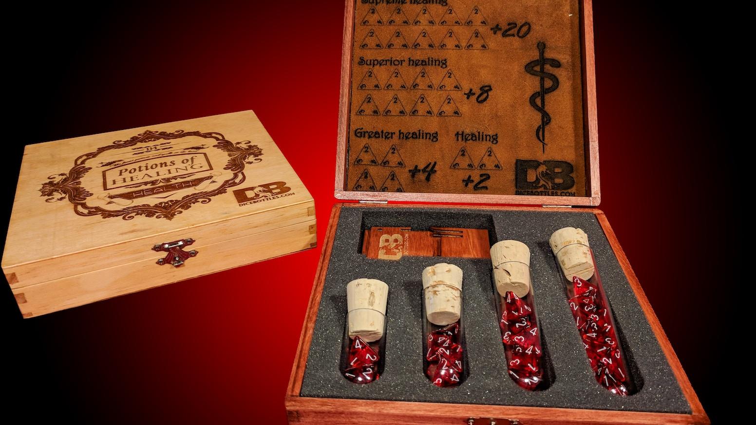 Dice Bottles Dnd 5e Healing Potion Kit By Jonathan Ross Kickstarter