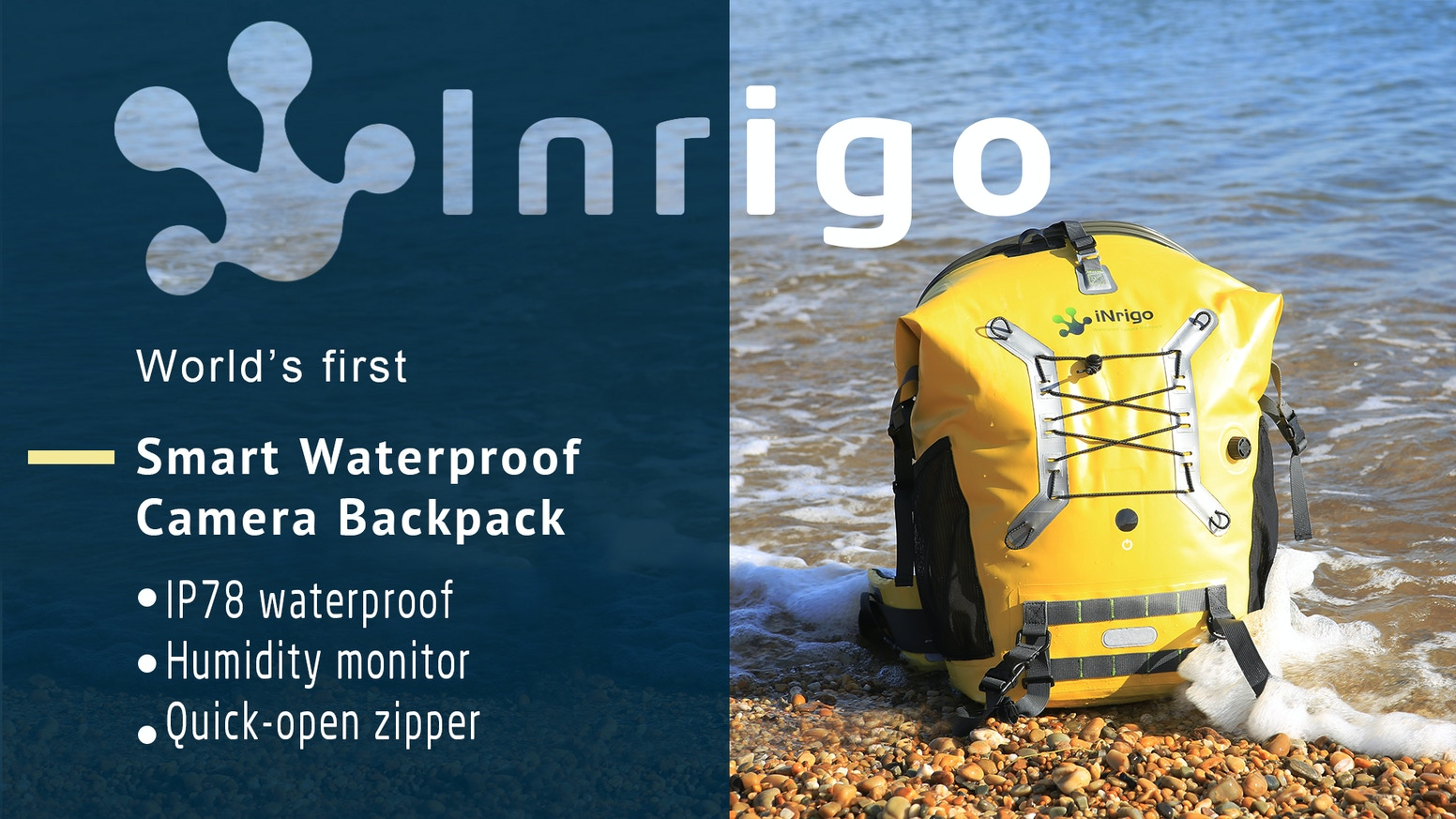 The first moisture monitoring camera backpack to protect your gear, with a quick-open zipper so you won't miss a shot.
