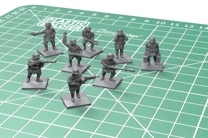 Now unlocked - digital sculpts of the German special personnel.