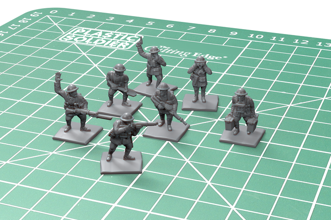 Also unlocked - digital sculpts of the British special personnel.
