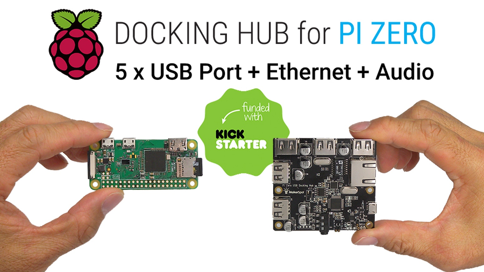 Turn your Pi Zero to an ultimate Docking Station with Bi-Directional Audio and Ethernet Connectivity.