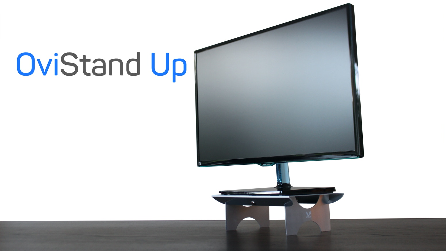 Raise your monitor or laptop to an ergonomic height with the portable OviStand Up, world's lightest and thinnest foldable stand! Buy now!
