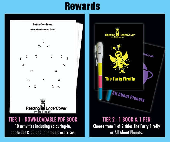choose from our kids books reward tiers