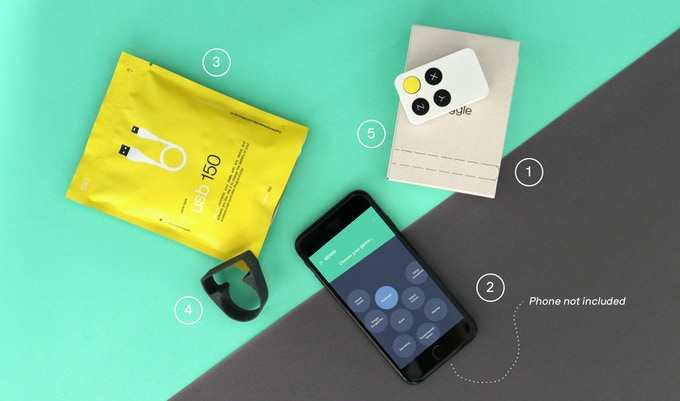 The Wiggle Kit comes with everything you need to get started (phone not included).
