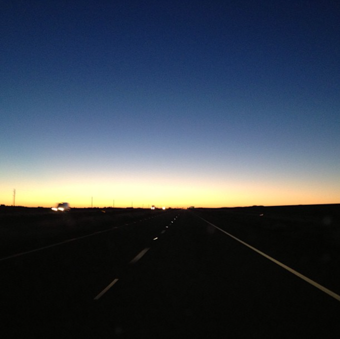The actual Arizona sunrise that inspired these songs...