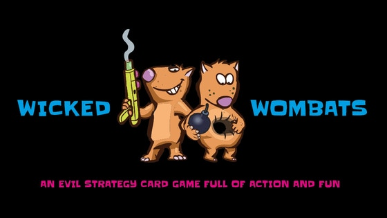 Wicked Wombats- a strategy card game full of action & fun