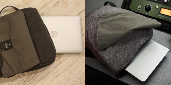Laptop pocket.