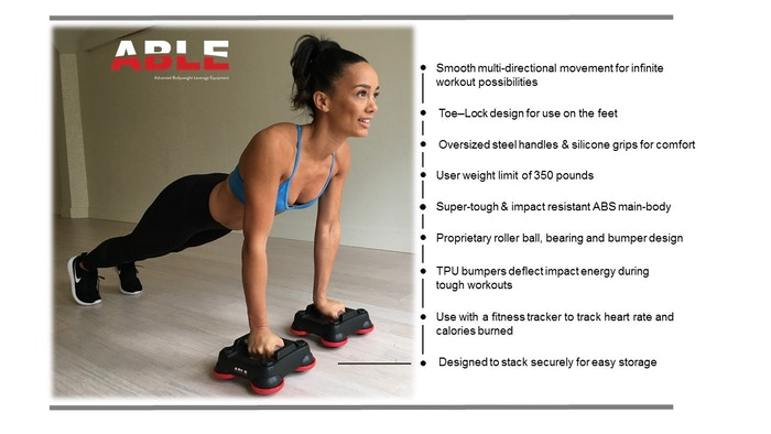 ABLE is the most dynamic, portable total-body fitness & training platform ever created.