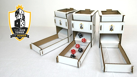 Dice Tower of Power - Simple Cardboard Dice Rolling Solution