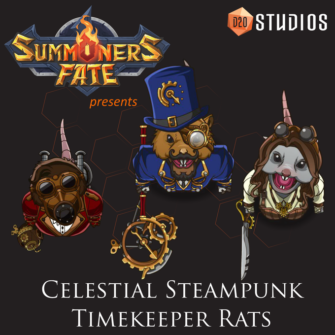 Control time with Celestial Steampunk Timekeeper Rats