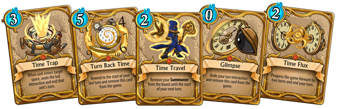 Original card mechanics let you control time