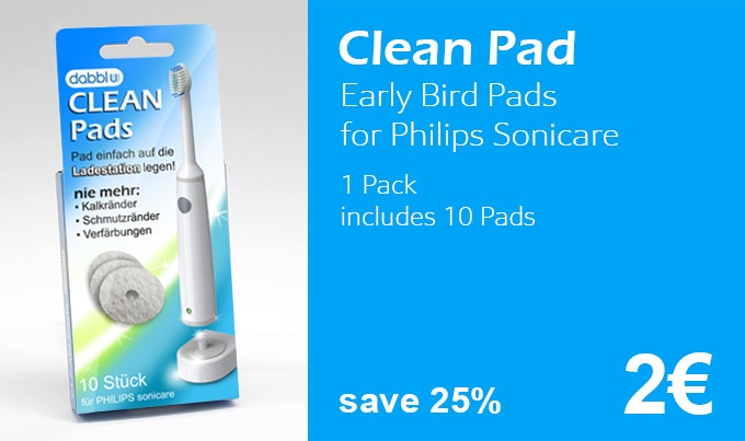 Clean Pads - for a clean toothbrush charging base by dabblu