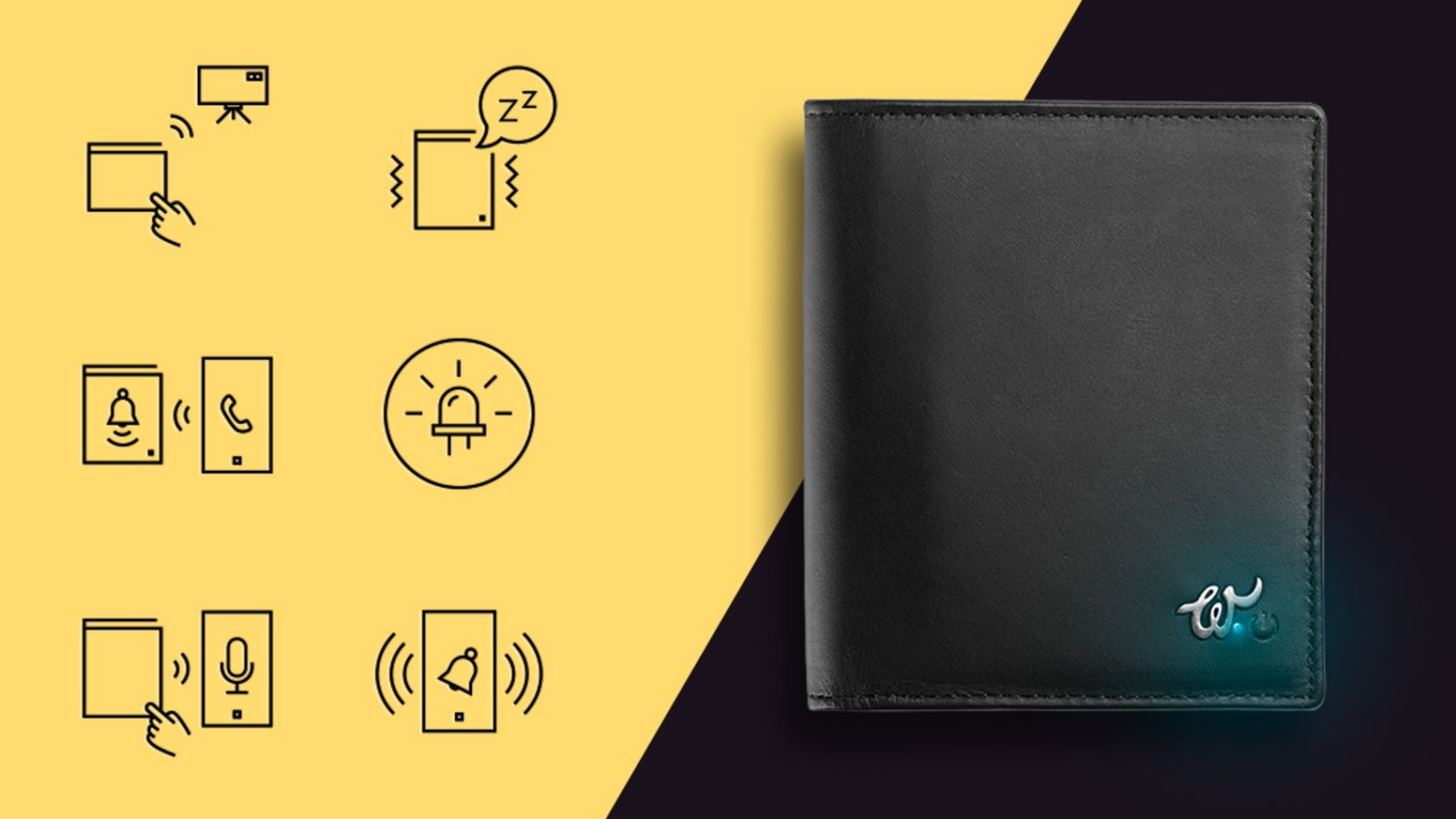 A smart wallet dedicated to urban lifestyle with anti-theft system.