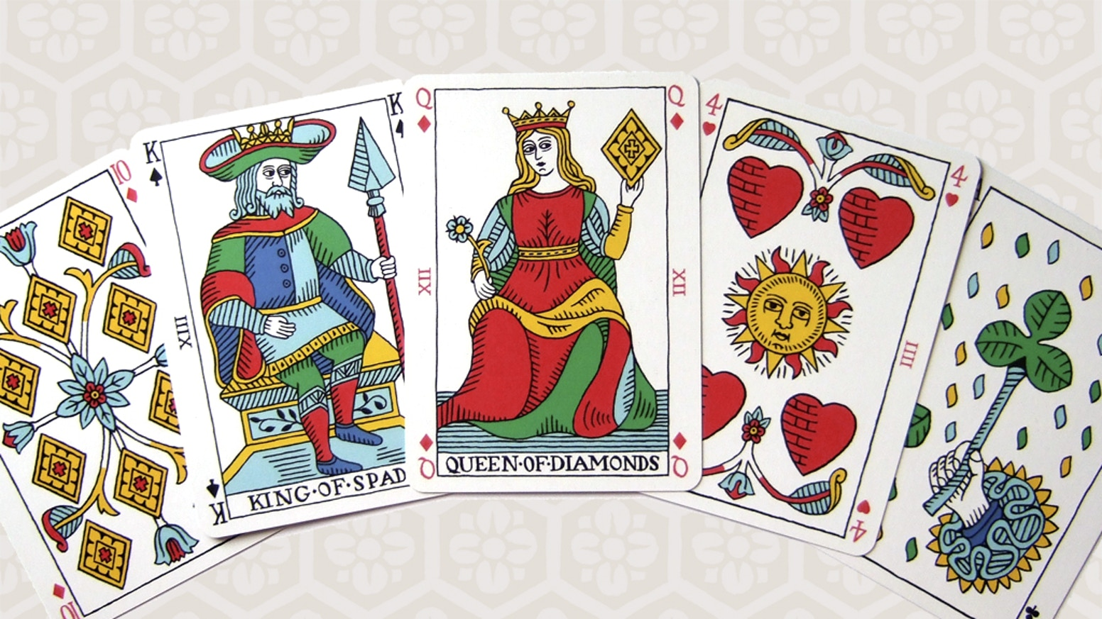Pike and clover playing cards by ian cumpstey kickstarter a deck of playing cards with designs based on the art style of the old tarot biocorpaavc Choice Image