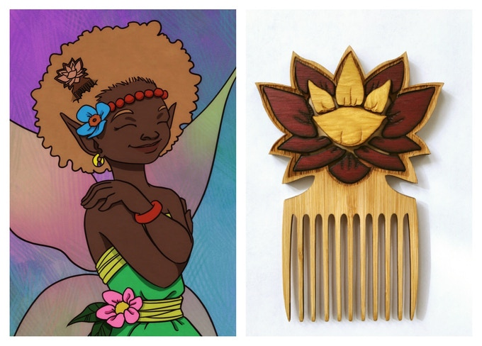 One of the Affirmation Cards with the AfroPixie Pick :)