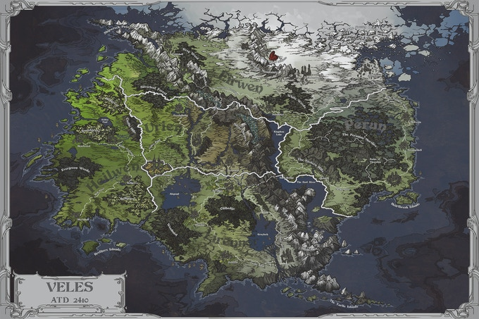 The map of Veles