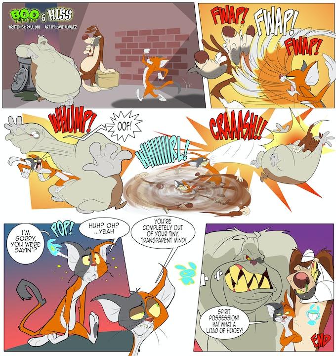 BOO & HISS short comic (written by Paul Dini, art by Dave Alvarez)