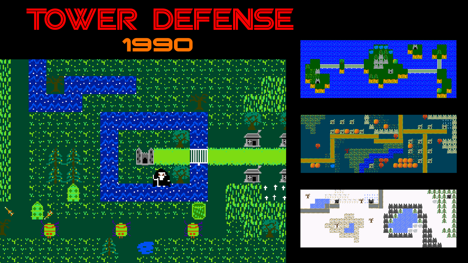 Tower Defense 1990 - A New NES Game