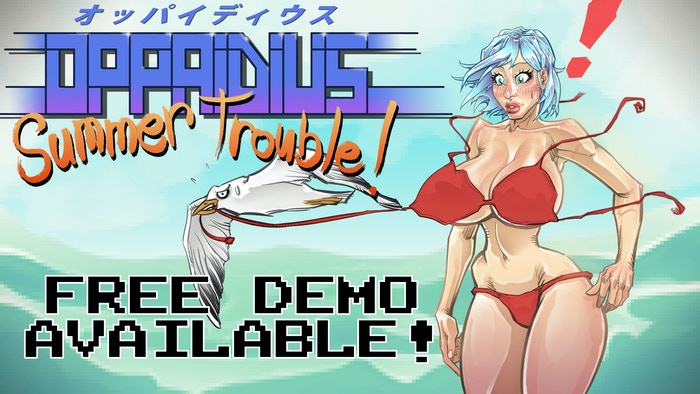 "An ""ecchi"" visual novel with a '90s retro vibe!"