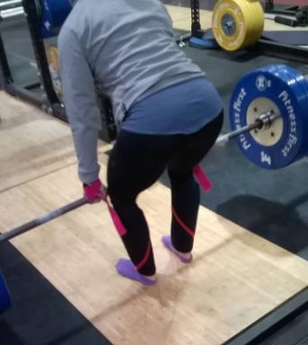 deadlifting with socks is slippery