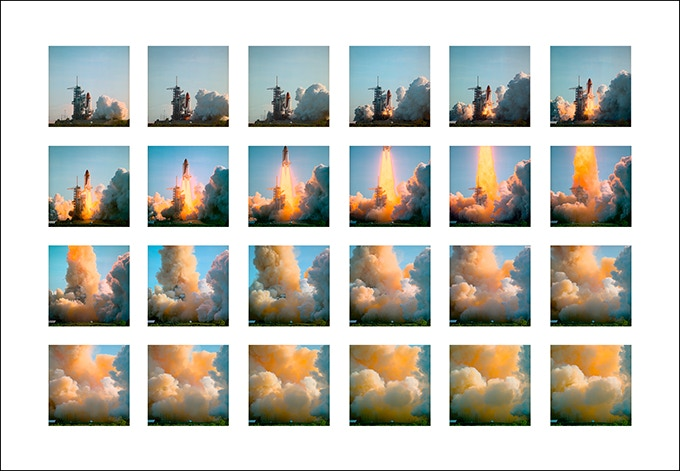 Discovery Mission 41D - Launch Sequence - 1984