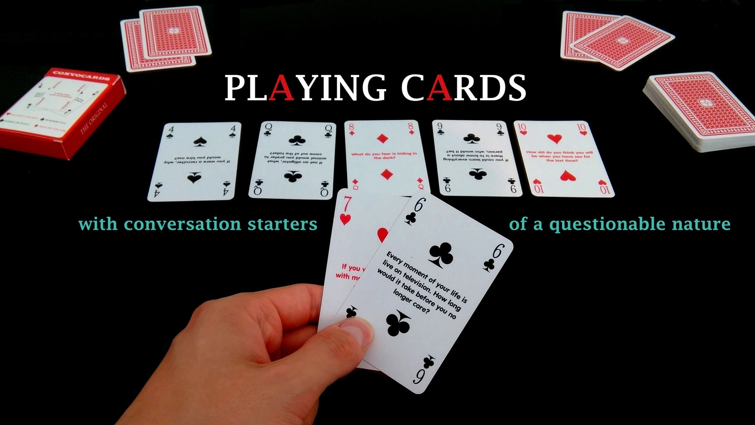 Thanks to social science, we have reinvented the conversation starter, and put in on regular playing cards to connect people once more.
