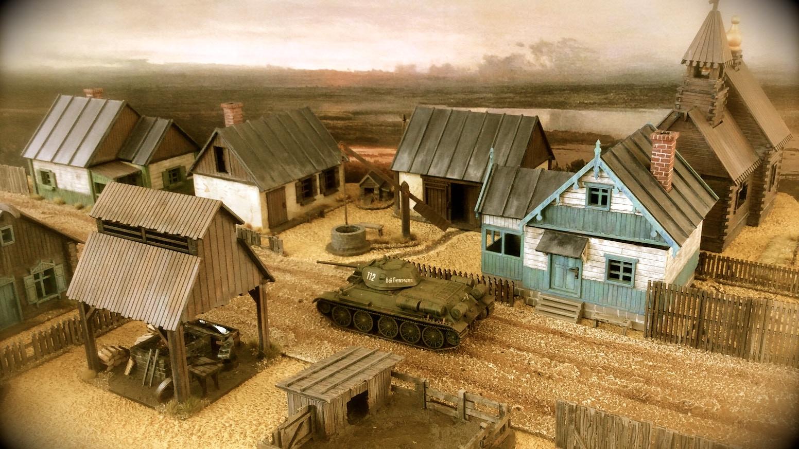 Russian Village, 28mm, laser-cut HDF terrain kits