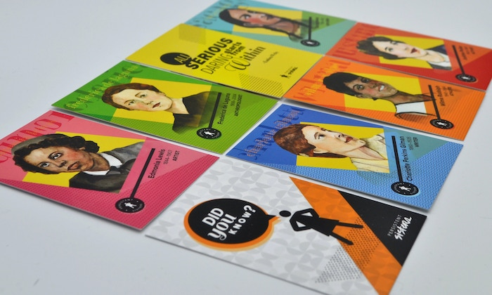 Trading cards of trailblazing women throughout history to inspire, empower and educate girls of all ages. Head over to www.persistentsisters.com to learn more!