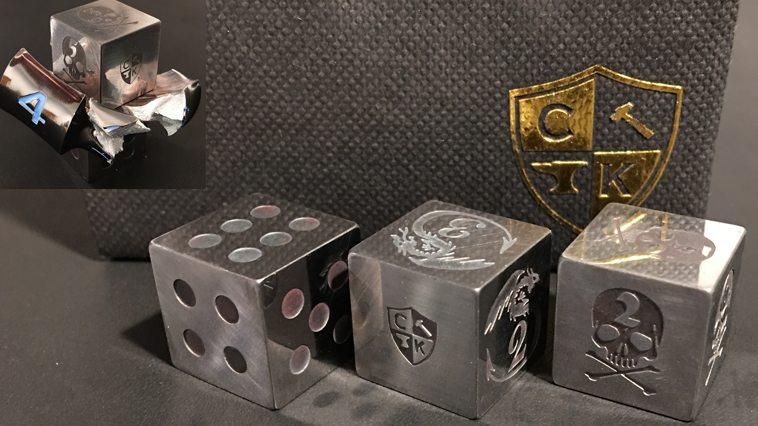 Tool Steel Metal Dice - The Strongest Dice Ever Made!