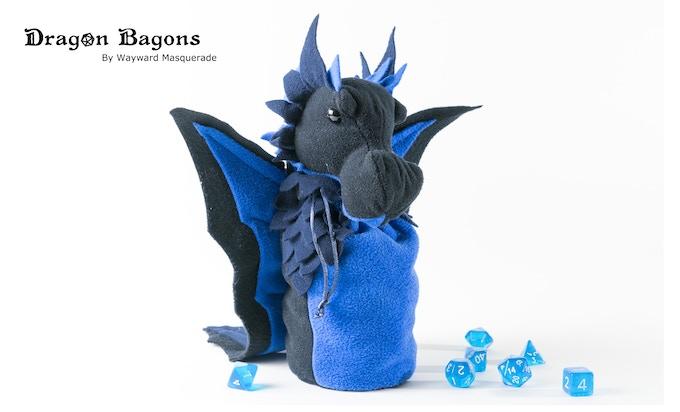 A black, royal, and a navy custom colour Dragon Bagon