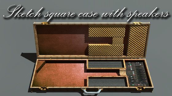 Case with amplifier