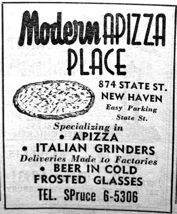 An advertisement for Modern from 1954.