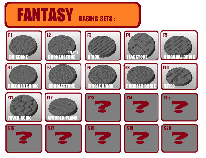 FANTASY SETS currently available.