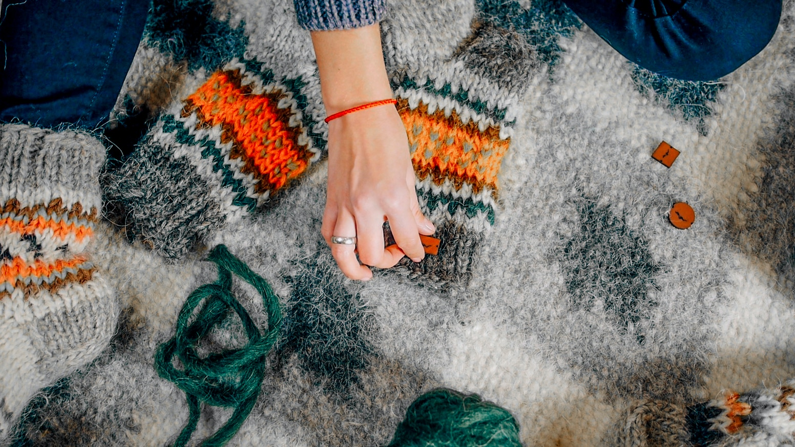 All natural handmade socks of sheep's wool which keep your feet warm with unique design from heart of Ukraine - Carpathian Mountains
