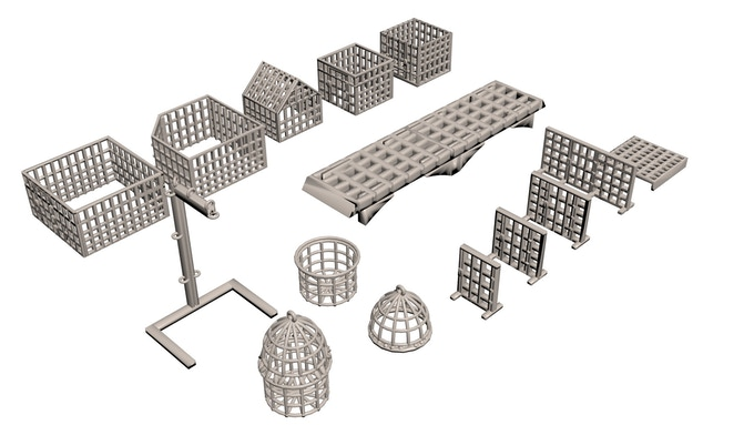 Cages and Grates