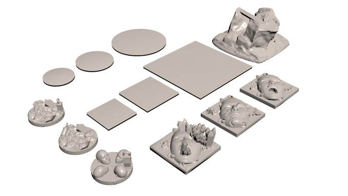 Bases for Miniatures (click for more views and larger pictures)