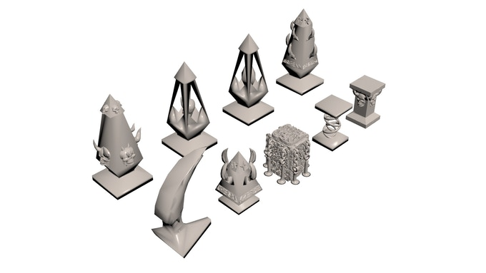 Pillars and Obelisks (click image for more/larger pictures)