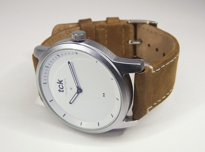 Matte with Brown Leather Strap